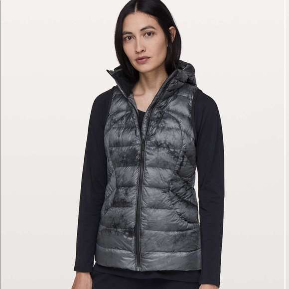 lululemon athletica Jackets & Blazers - Lululemon Pack it Down Vest Diamond Dye black